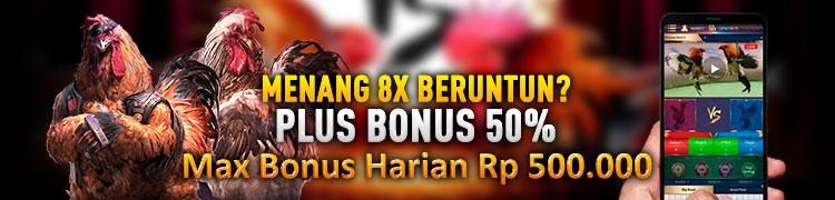 BONUS 8X WIN BERUNTUN