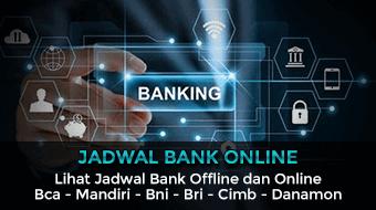 jadwal bank online